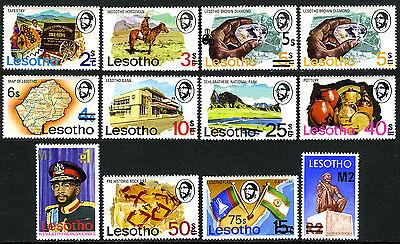 Lesotho 302-312, 304a, MNH.Horseman, Tapestry, Map, Diamond, King Moshoeshoe II, 1980