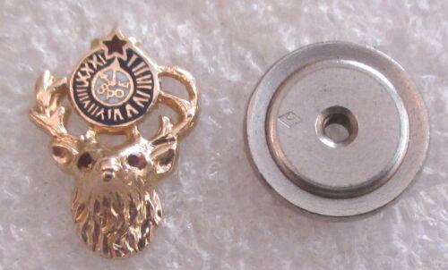 Vintage 10K Gold BPOE Elks Member Lapel Pin -Benevolent Protective Order of Elks