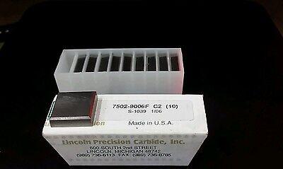 Lincoln Precision 7502-9006f C2 Carbide Inserts New 10pcs