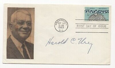Harold Urey - Nobel Prize in Chemistry - Autographed First Day Cover