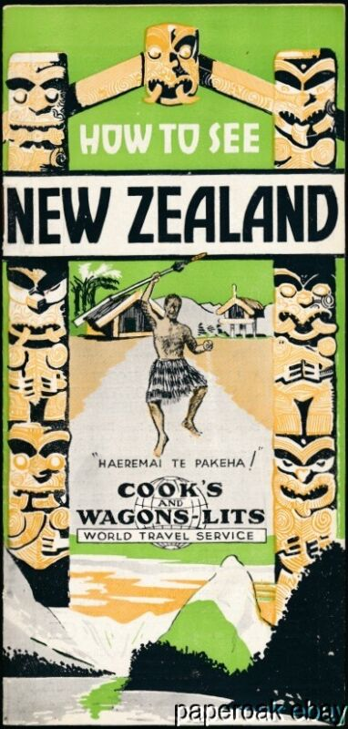 1936-37 How To See New Zealand By Cook