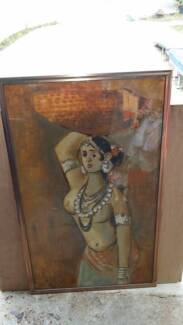 Oil Painting Beautiful Indian Women Airds Campbelltown Area Preview