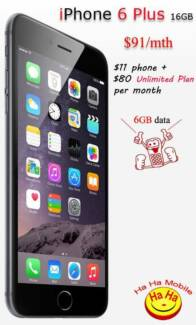 Brand New Unlocked Apple iPhone 6 Plus Unlimited Plan Auburn Auburn Area Preview