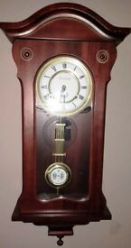 R A,Canterbury pendulum wall clock,chimes every hour / half