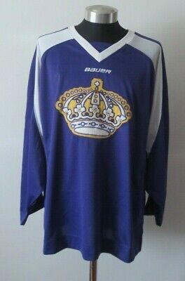 Bauer Los Angeles Kings Throwback Purple/White Crown Logo Jersey Size L