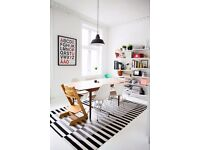 IKEA 'Stockholm' black and white striped rug for sale in good condition