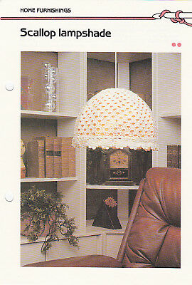 Crochet Pattern ~ SCALLOP LAMP SHADE ~ Instructions (Lamp Shade Crochet Pattern)