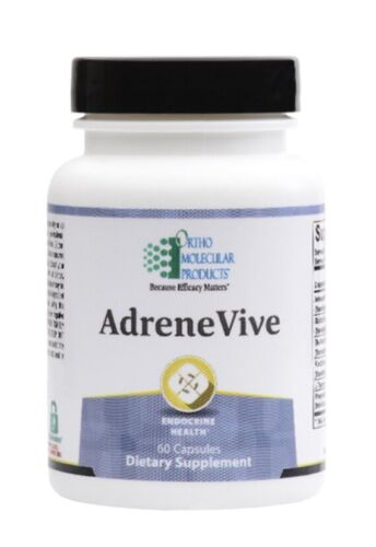 Ortho Molecular AdreneVive 60 Capsules Exp 4/22 FRESHEST EXP. DATE! Adrene Vive