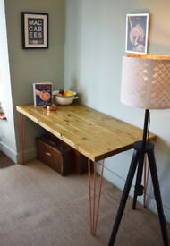 Industrial Kitchen Table Mid Century Style Copper Hairpin legs