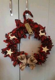 🎄 Handmade Reindeer Christmas Wreath