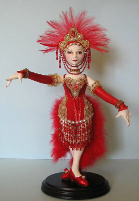 "*NEW* CLOTH ART DOLL PAPER PATTERN ""FOLLIES SHOWGIRL"" BY ARLEY BERRYHILL"