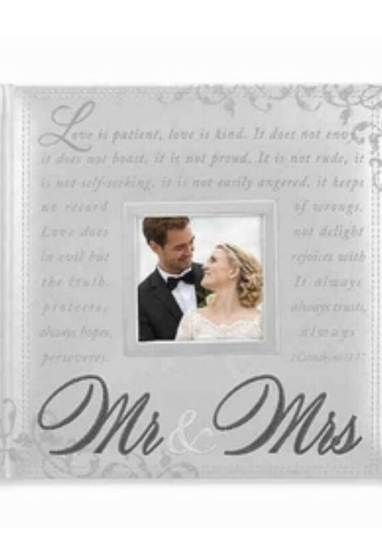 New Silver MALDEN -  Mr. & Mrs. 160 Wedding Photo Picture Album - NIP