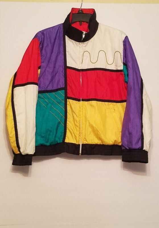 Vintage Womens Wilson Tennis Jacket Size Small  Multicolored
