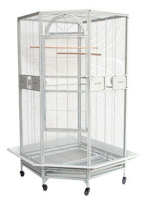 NEW Large Corner Bird Cage Cockatiel Parakeet Budgies Parrot Seed Skirts 249