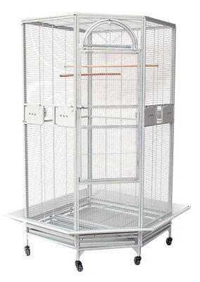 "NEW Large 63"" Corner Cage For Cockatiel Parakeet Budgies Parrot Seed Skirts 250"