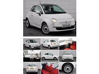FOR SALE- WHITE FIAT 500 LOUNGE - 2013
