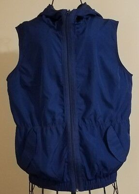 Be Inspired 2 Piece Workout Zip Up Hooded Vest And Capris Size Large Dark Blue