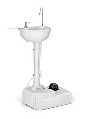 5 Gallon Portable Wash Sink Camping Garden Washing Station Hand Wash Basin Stand