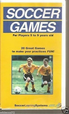 Soccer Games For Players 5 to 9 Years Old (VHS) (Games For 9 Year Olds)