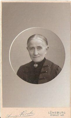 CDV Foto Damenportrait - Lüneburg um 1910