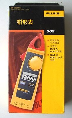 New Us Ship Fluke 362 Detachable Jaw True-rms Acdc Digital Clamp Meter New