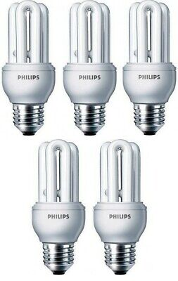 Pack of 5 Philips Economy Compact Fluorescent Bulbs (18w, E27, 1100 lumens)