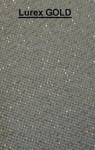 HANDARBEITS STOFF LUREX GOLD Meterware 170 cm breit 8 Fäden/cm Sticken Hardanger