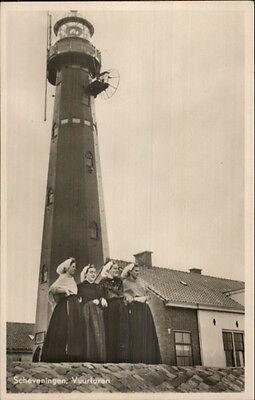 Scheveningen Netherlands Lighthouse Real Photo Postcard