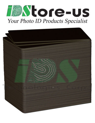 1000 Black PVC Cards, CR80, 30 Mil, Graphics Quality, Credit Card size