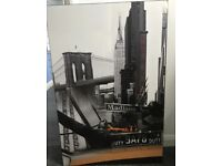 New York Wood mounted Picture