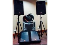 full PA Equipment Mixing desk and speakers