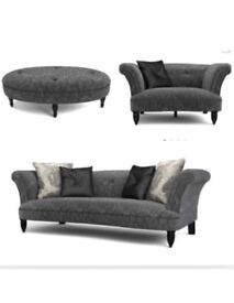 Sofa set DFS concerto collection sofa,cuddler and foot stool