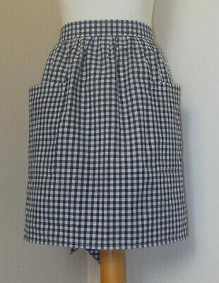 New 'Black Gingham ' Vintage Style Waist Apron/Pinny