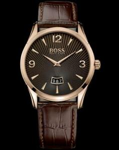 Men's Hugo Boss  Brown Leather Strap Watch 1513426