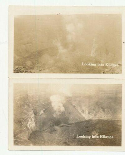 1930s Looking into Kilauea Volcano Hawaii 2 photos
