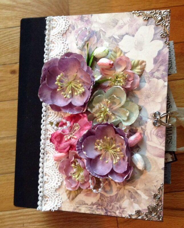 Handmade Mini Album using Prima French Riviera Collection