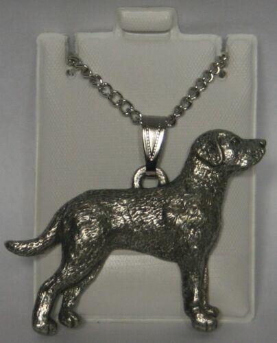 Chesapeake Bay RetrieverDog Harris Fine Pewter Pendant w Chain Necklace USA Made