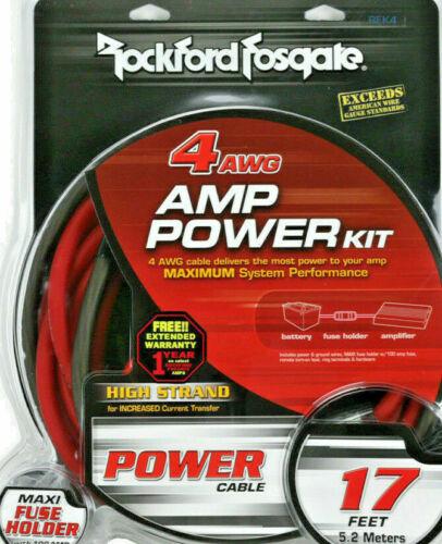Rockford Fosgate RFK4 Car Audio 4 AWG Power Amplifier Installation Kit Amp NEW