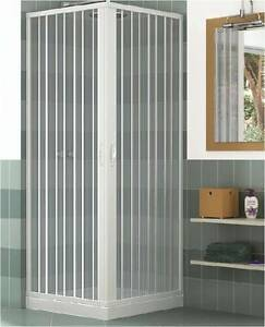 paroi cabine de douche pliantes en pvc 70x70 80x80 ouverture d 39 angle deux portes ebay. Black Bedroom Furniture Sets. Home Design Ideas