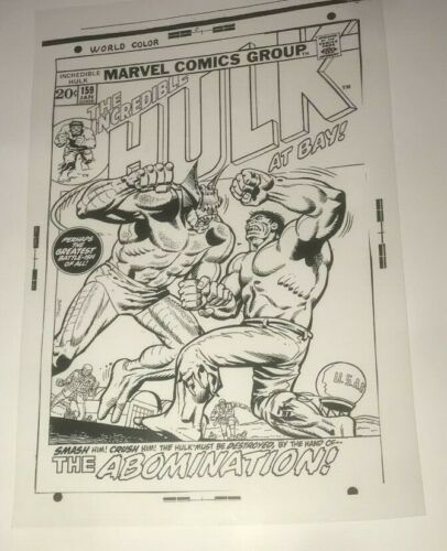 Incredible Hulk Versus Abomination Marvel Cool Cover Art Production Acetate