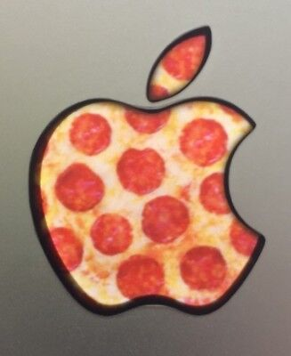 Used, GLOWING PIZZA  Apple MacBook Pro Air Sticker Mac Laptop DECAL 11,12,13,15,17 in for sale  Shipping to India