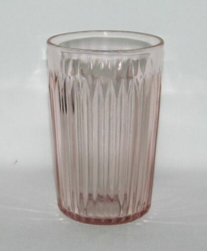 Hocking Glass Co. OLD COLONY Lace Edge Pink Flat Water Tumbler