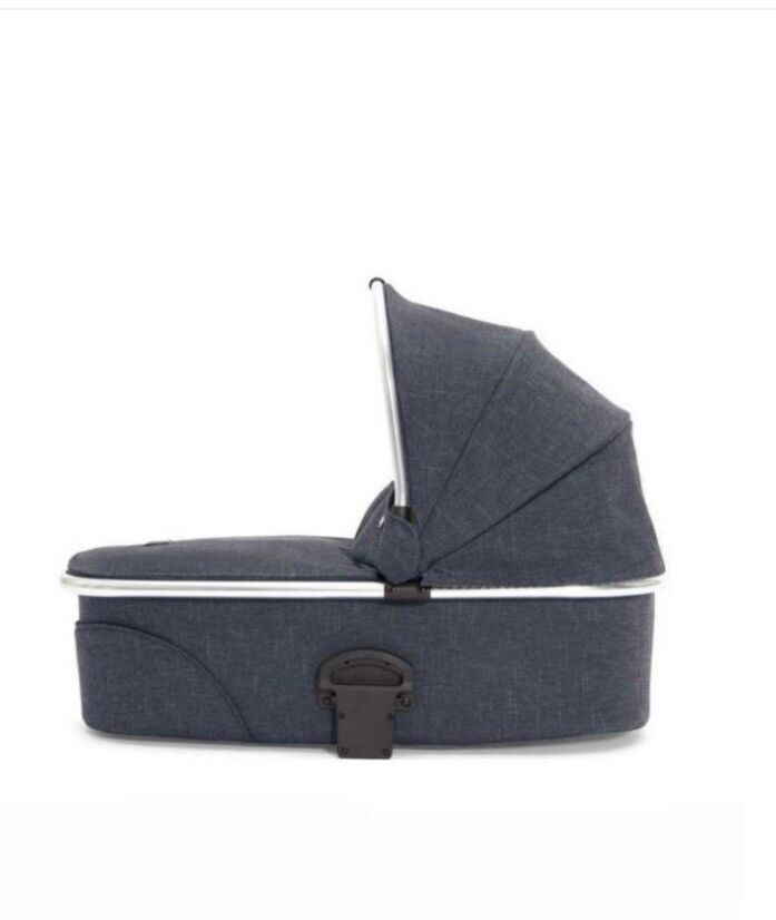 Mamas and papas carrycot in blue denim (NEW)