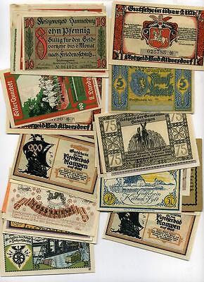 GERMANY 1918 1920 1921 1922 NOTGELD NOTE LOT OF 50