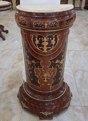 PFEILERTISCH (halbrund) ca.106cm SÄULENTISCH, WANDTISCH KONSOLE mit SCHUBLADE