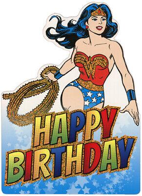Wonder Woman Die Cut Foil Superhero Birthday Card For (Die Cut Birthday Card)