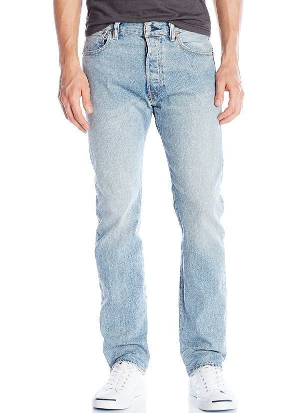 Men's Levi's Authentic 501 Original Fit Button Fly Denim Jeans