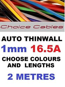 2M-1mm-12V-AUTO-CABLE-CAR-LOOM-WIRE-THINWALL-AUTOMOTIVE-16A-1-0mm-2-METRES