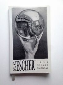 M.C Escher Collectors…. 1998 Pocket Calendar/diary by Pomegranate Calendars & Books, California