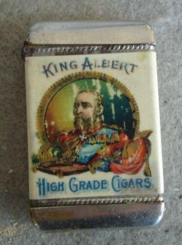 match safe for  King Albert Cigar Match holder detroit U.S.A. Gustav Mobes & co.